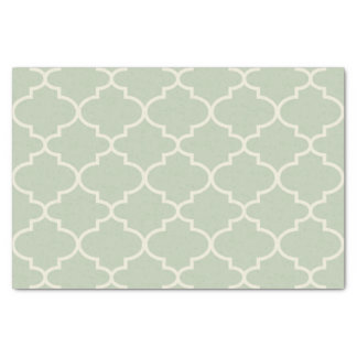 Pastel Seafoam Green Moroccan Pattern Tissue Paper