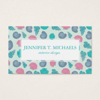 Pastel Seashell Pattern 1 Business Card