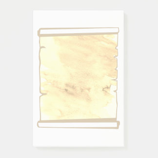 Pastel Sepia Watercolor Scroll Planner Add On Post-it Notes