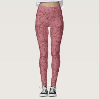 Pastel shade of pink leggings