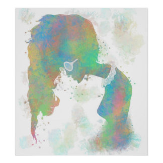 Pastel Silhouette Poster