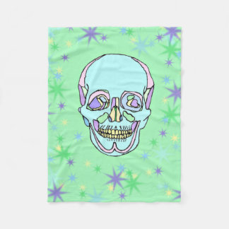 Pastel Skull and Stars Fleece Blanket