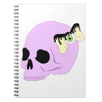 Pastel Skull Spiral Notebook