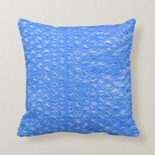 Pastel Sky Blue Bath Bubbles Seafoam Blueberry Throw Pillow
