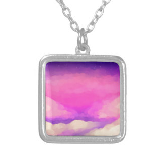 Pastel Sky Silver Plated Necklace