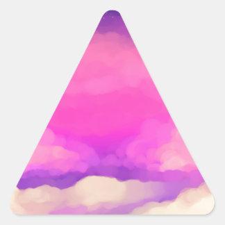 Pastel Sky Triangle Sticker