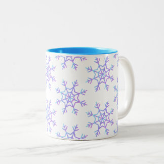 Pastel Snowflake Pattern Mug