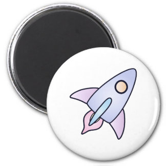 pastel Space rocket magnet