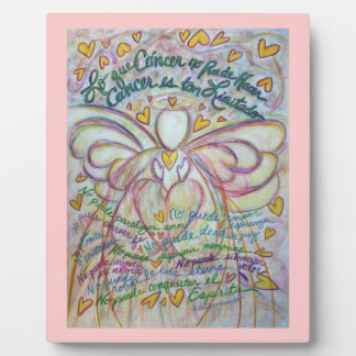 Pastel Spanish Cancer Angel Painting Poem Plaque