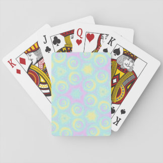 Pastel Spirals Playing Cards