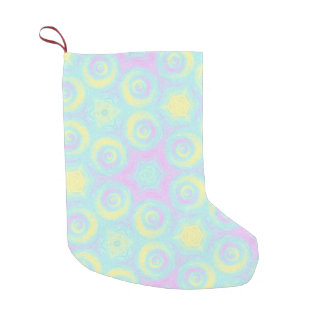 Pastel Spirals Small Christmas Stocking
