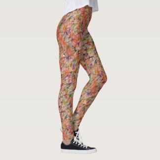 Pastel Splash Art Work Leggings