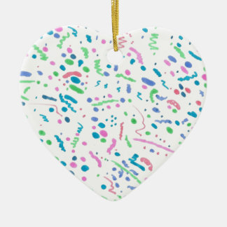 Pastel Splatter Confetti Print Ceramic Ornament