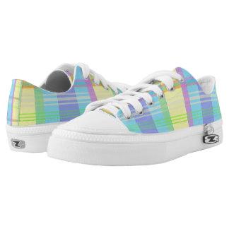 Pastel Spring Easter Plaid Sneakers