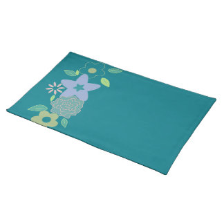 Pastel spring flowers placemat