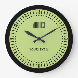 Pastel Spring Green Accent Color to Personalize on Large Clock