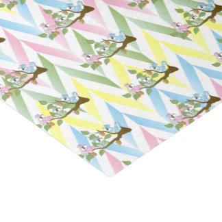 Pastel Squirrel Baby Girl Shower Tissue Paper