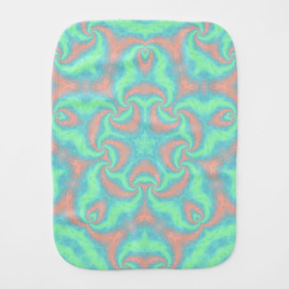 Pastel Star Mandala Burp Cloth