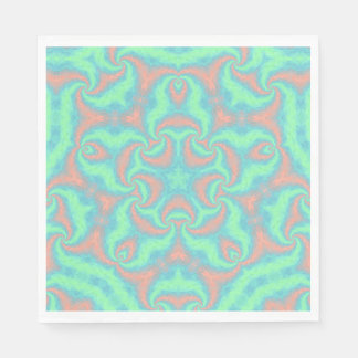 Pastel Star Mandala Disposable Napkins