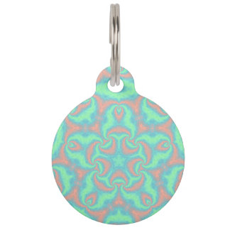 Pastel Star Mandala Pet ID Tag