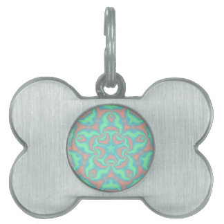 Pastel Star Mandala Pet Name Tag