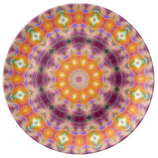 Pastel Star Mandala Plate