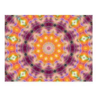 Pastel Star Mandala Postcard