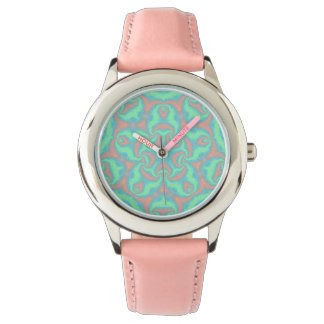 Pastel Star Mandala Wrist Watch