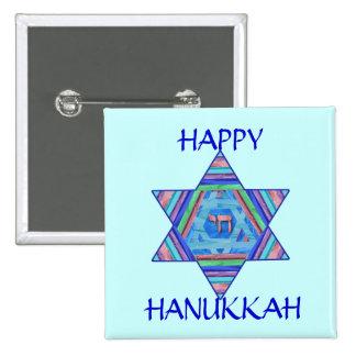 Pastel Star of David Hanukkah Button