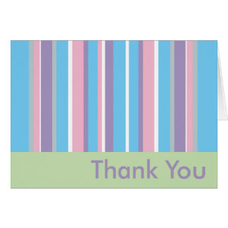 Pastel Striped Thank You Card