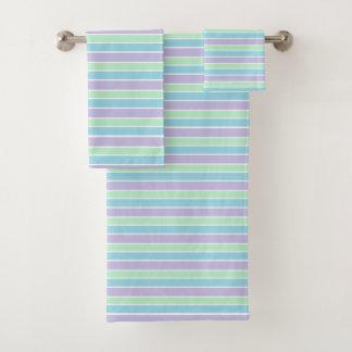 Pastel Stripes Bath Towel Set