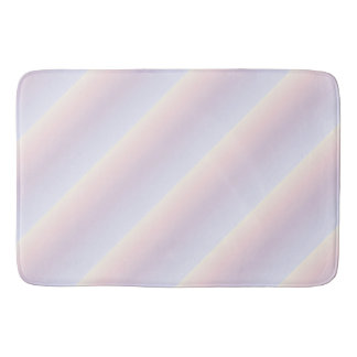 Pastel Stripes Pattern Bath Mat