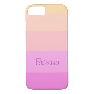 Pastel Stripes | Personalized iPhone 8/7 Case