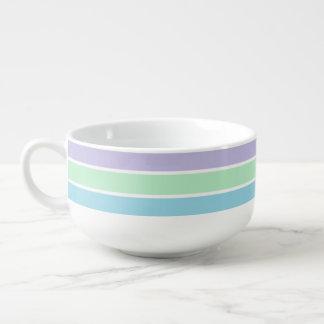 Pastel Stripes Soup Mug