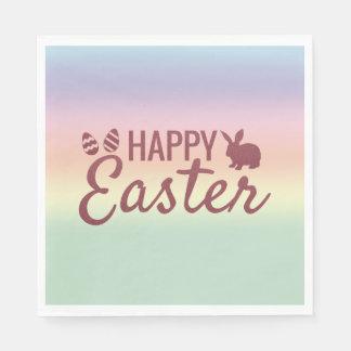 Pastel Sunrise Happy Easter Paper Napkins