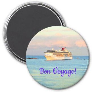 Pastel Sunrise with Cruise Ship Bon Voyage Magnet
