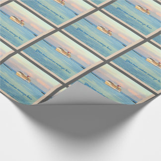 Pastel Sunrise with Cruise Ship Custom Wrapping Paper