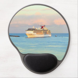 Pastel Sunrise with Cruise Ship Gel Mouse Pad