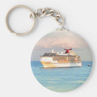 Pastel Sunrise with Cruise Ship Keychain