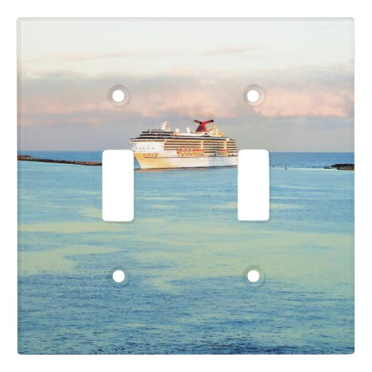 Pastel Sunrise with Cruise Ship Light Switch Cover
