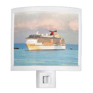 Pastel Sunrise with Cruise Ship Night Light