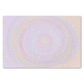 Pastel Swirl Design on Snow Pattern Tissue Paper