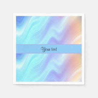Pastel Swirls Paper Napkins
