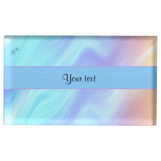 Pastel Swirls Table Card Holder
