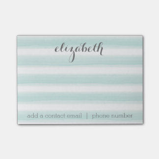 Pastel Teal and Grey Stationery Suite for Women Post-it® Notes