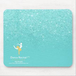 Pastel teal faux glitter ombre color block logo4 mouse pad