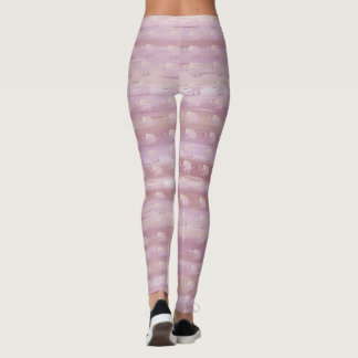 Pastel Terracotta Ringlets with Elephants Pattern Leggings