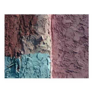 pastel texture postcard