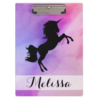Pastel Texture Unicorn  Design Clipboard
