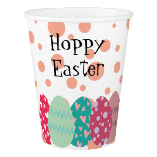 Pastel Themed Easter Paper Cups